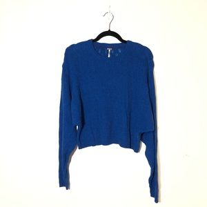 FREE PEOPLE Cropped Knit Sweater Size S